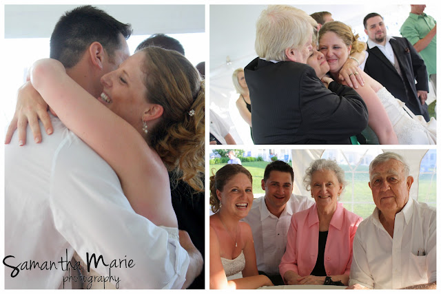 bride and groom with grandparents