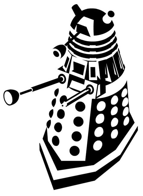 doodlecraft doctor who related silhouette stencils