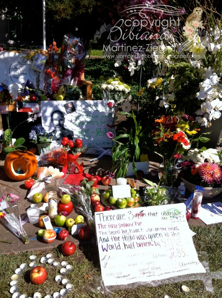 flowers for Steve Jobs