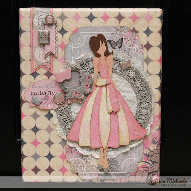 Julie Nutting Classy Beautiful You Mixed Media Canvas #chipboard #leakyshedstudio #bobunny