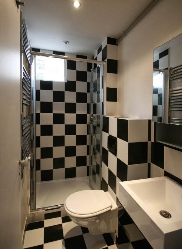 Baño Pequeno Suelo Oscuro:15 fotos de baños pequeños – Colores en Casa