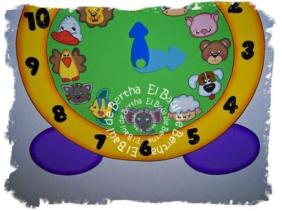 Reloj en foami infantil imagui - Manualidades relojes infantiles ...