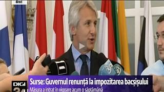 Eugen Teodorovici renunţă la impozitarea bacşişului
