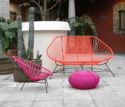A segunda vista sillon acapulco for Camastros de hierro para jardin