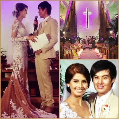 Shamcey Supsup and Lloyd Lee exchanging their I DO's and wedding vows