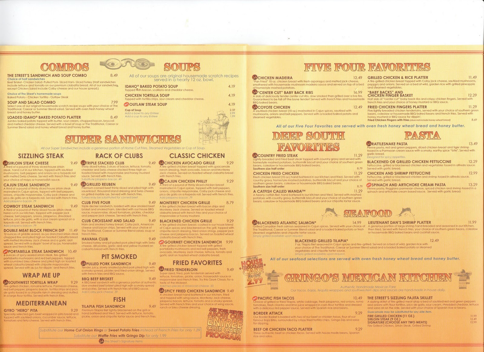 vc menu: 54th street grill - kansas city mo, st louis mo, olathe ks