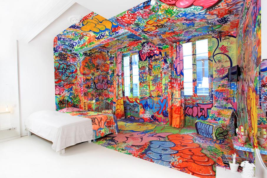 Urba actu le street art fait son entr e l 39 int rieur - Art decoration interieur ...