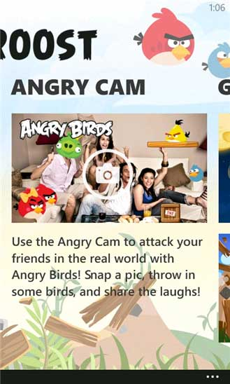 Fitur Angry Cam dari Angry Birds Roost