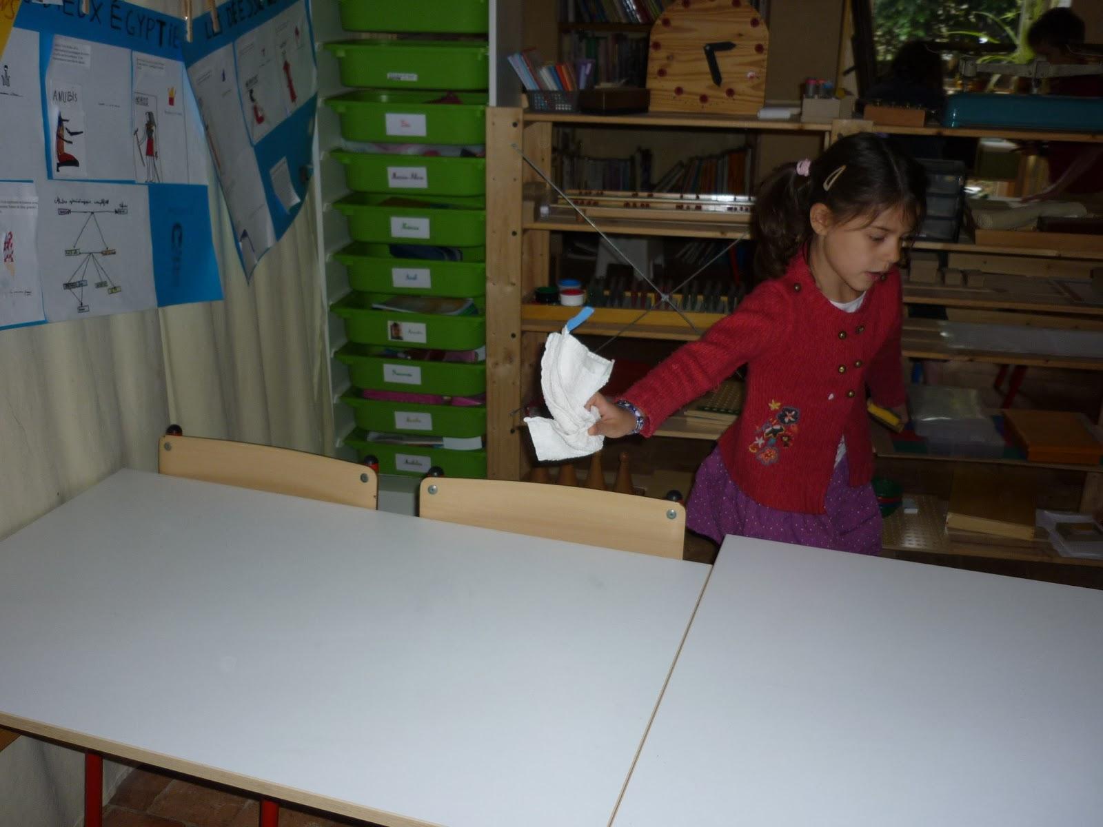 Montessori avec les 6 12 ans apprentissage de l 39 anglais i for Couvert de table en anglais