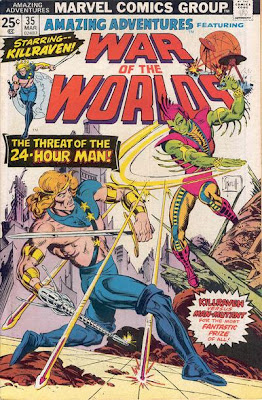 Killraven, War of the Worlds, Amazing Adventures, the 24-hour man, cover
