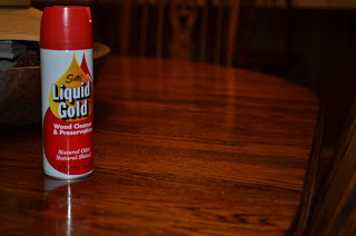 My kitchen table with Scott's Liquid Gold