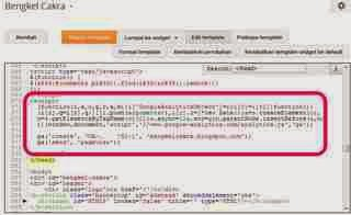 Cara Memasang Kode Google Analytics di Blog