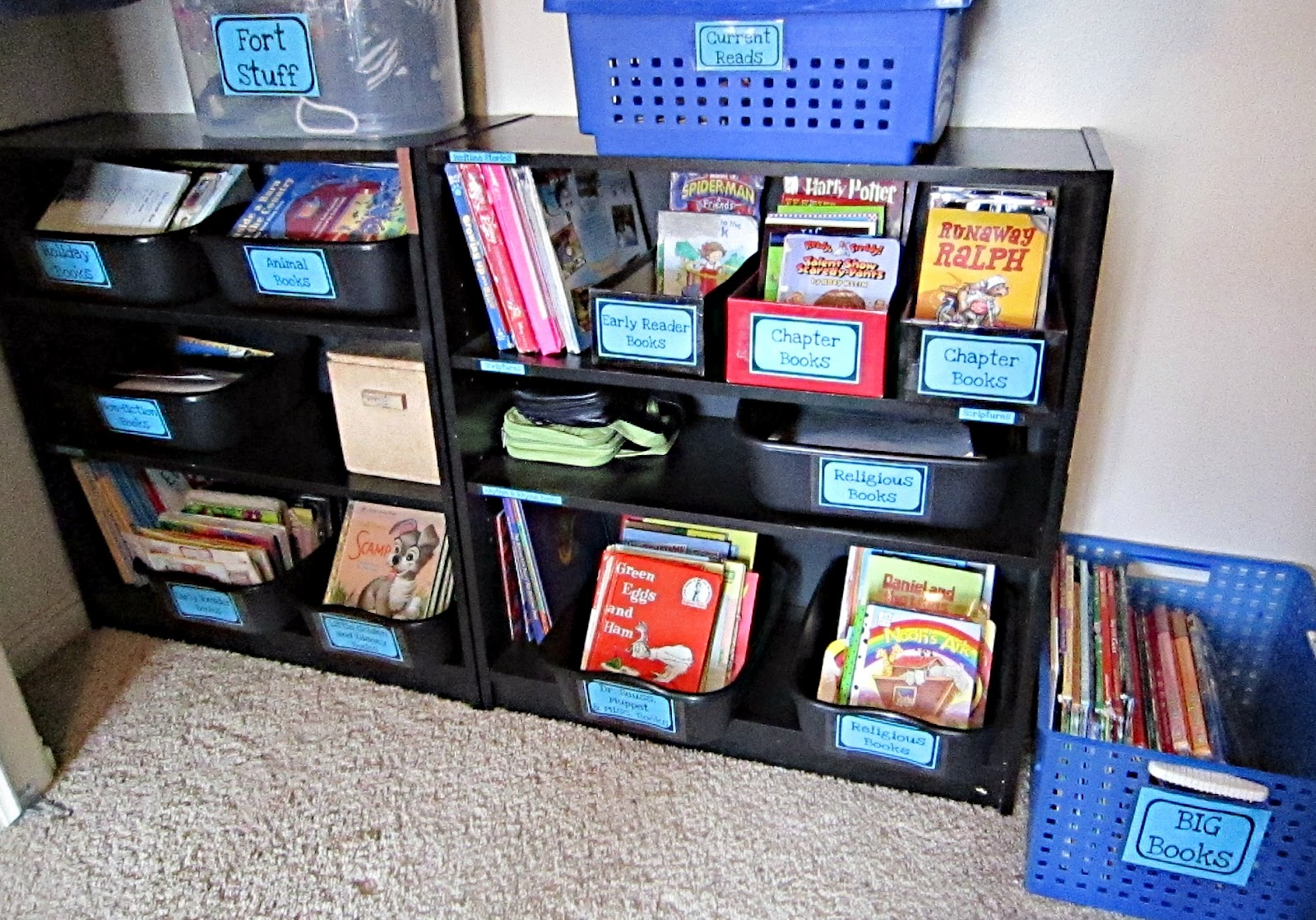 lady create a lot how to organize childrens bookshelves - Childrens Bookshelves