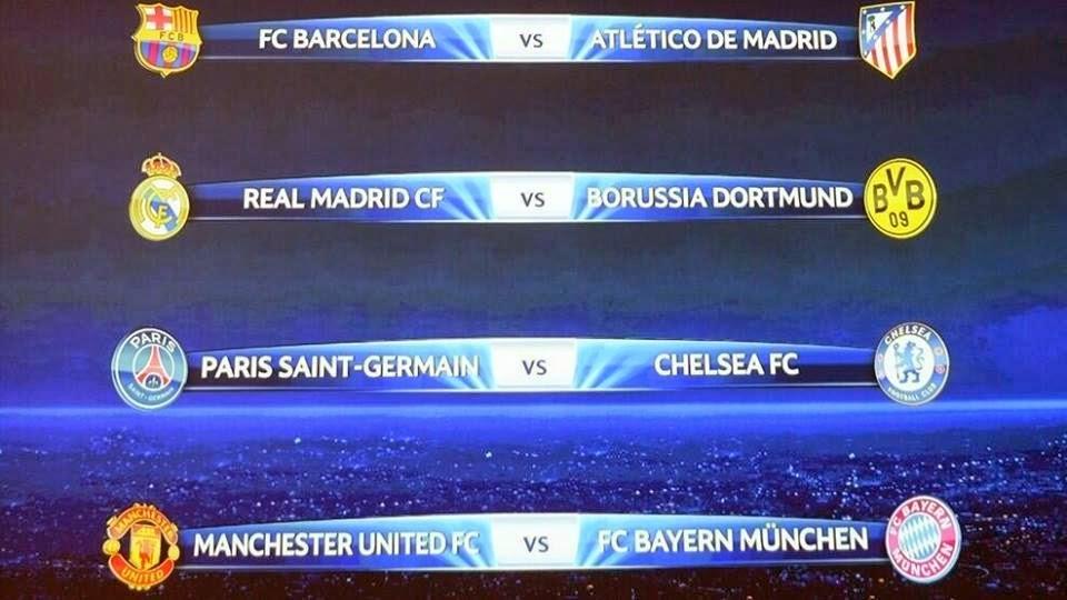 Hasil undian perempat final Liga Champions
