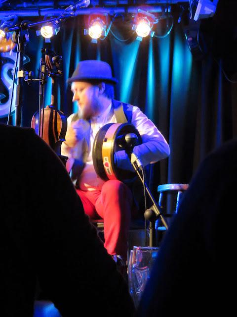 We Banjo Three plays the bodhran at Whelan's