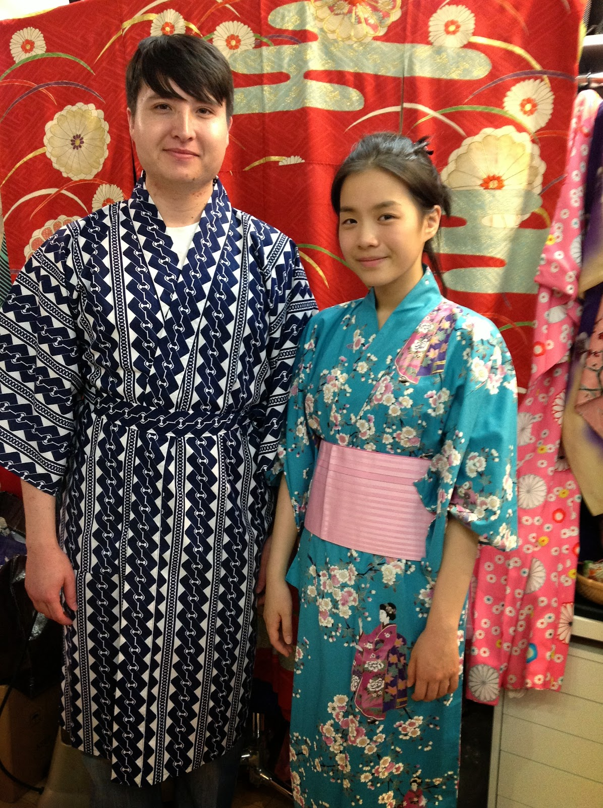Japanese Kimonos for Summer Festivals including those held at Mitsuwa