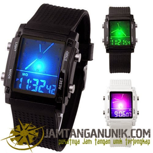 skmei square dual time waterproof original