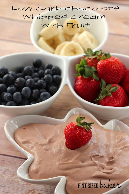 Low Carb and simply amazing. This chocolate whipped cream will keep you in you happy in your swimsuit!