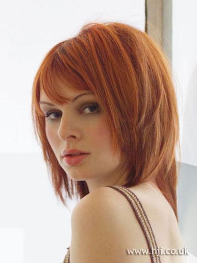 hair medium red hairstyles