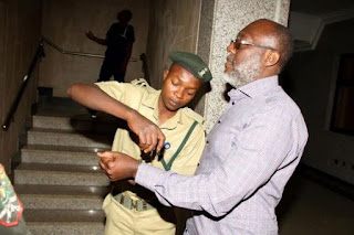 Again, Olisa Metuh Appears In Court In Handcuffs (Photos)