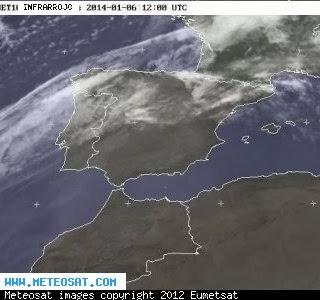 ALERTA CLIMATICA EN NORTE DE ESPAÑA, 06 DE ENERO 2014