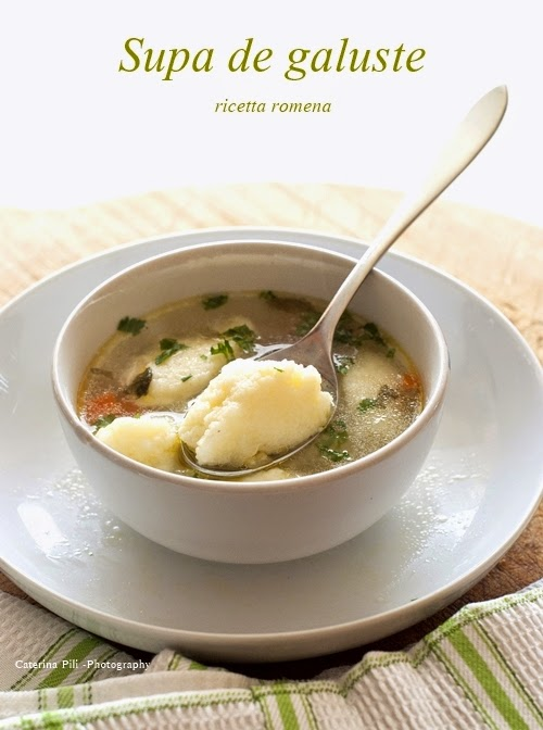 Supa de galuste,ricetta romena