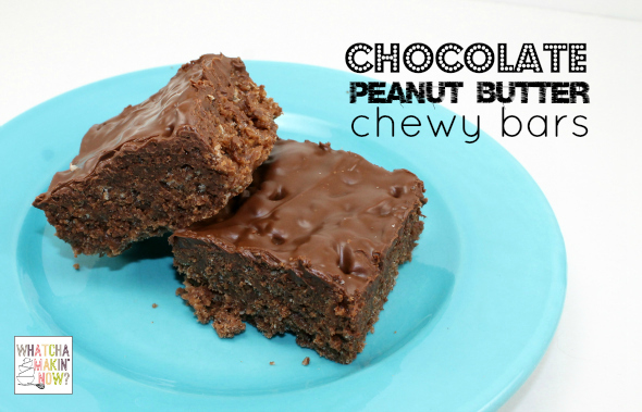 Chocolate Peanut Butter Chewy Bars from @whatchamakinnow - like scotcheroos but chocolaty!