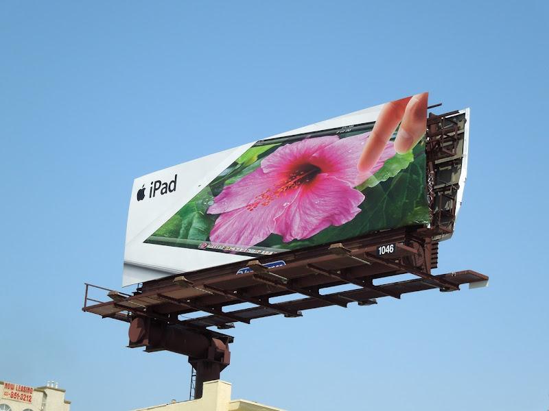 Apple iPad flower billboard