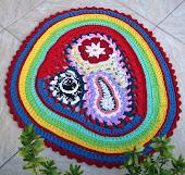"Free Form Crochet - Tapete ""Formas Livres e Cores 2"""