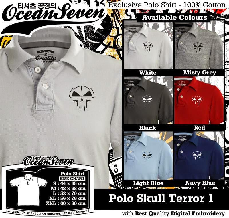 Kaos Polo Skull Terror 1