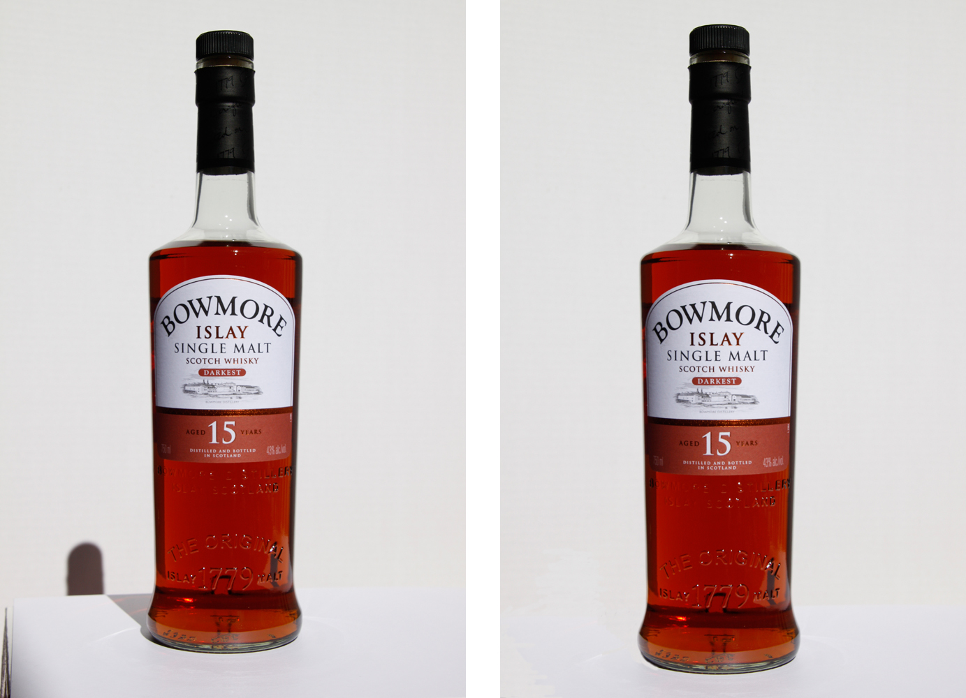 Bowmore Islay Scotch product photography