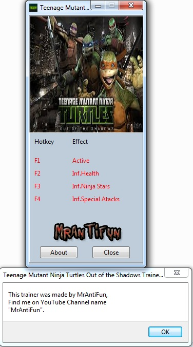 Teenage Mutant Ninja Turtles Out of the Shadows Trainer +3 V1.0 MrAntiFun