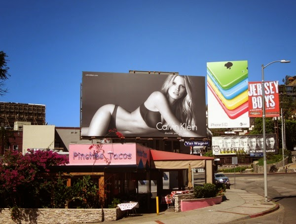 Calvin Klein perfect fit billboard