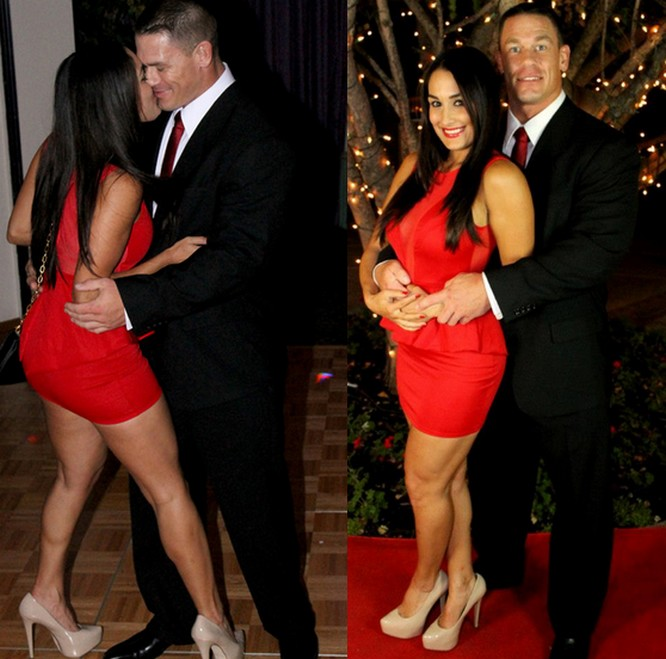 Nikki Bella John Cena and AJ Lee