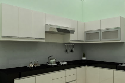 Jasa Gambar Kitchen Set Desain Minimalis Modern Murah