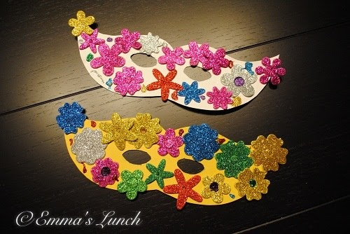 Emma 39 s lunch mardi gras masks craft for kids for Mardi gras masks crafts