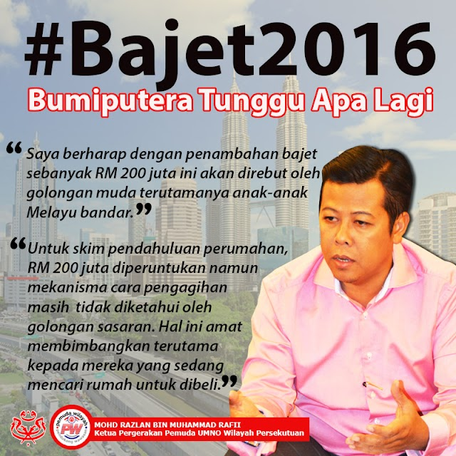 #Bajet2016 : Bumiputera Tunggu Apa Lagi?