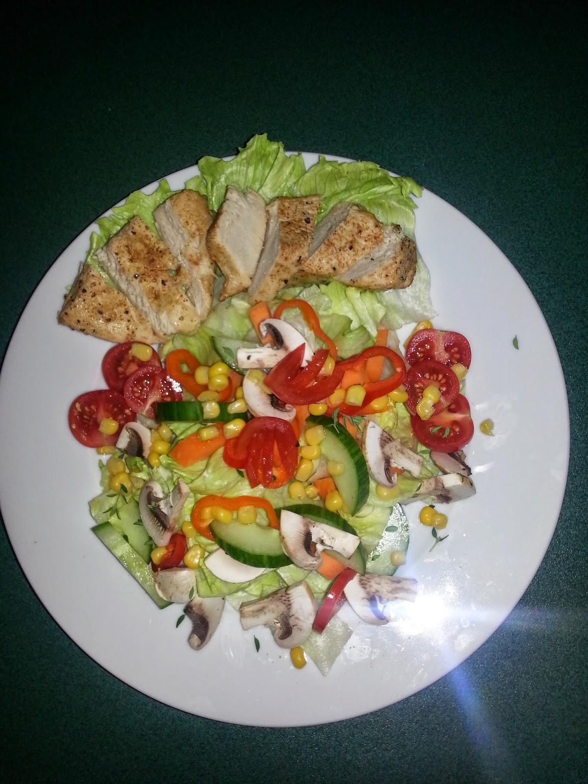 Küchenchaos für Zwischendurch: Salat mit Putenstreifen, Kartoffel ...