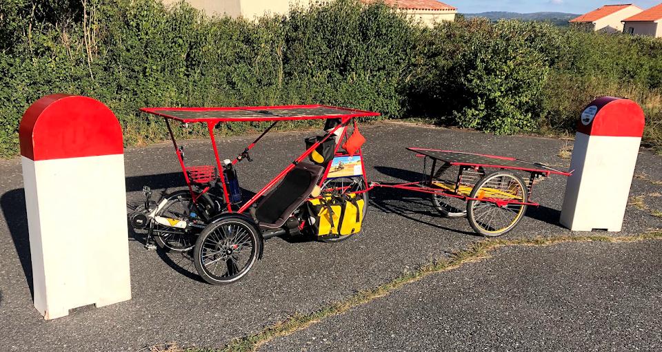 fabriquer un  trike solaire et voyager à la vitesse de l'homme