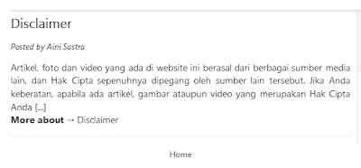 Membuat  Halaman Statis (Pages Static) Full Page Pada Blogspot