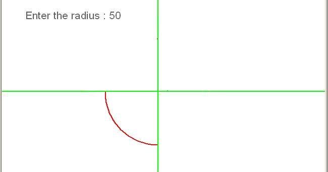 Develop The Bresenham S Line Drawing Algorithm Using C Language : C programming program to draw circle in third quadrant