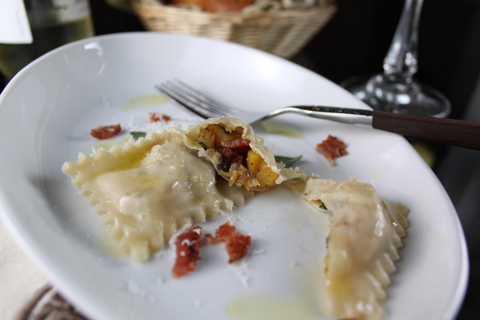 how to cook ravioli in a pan
