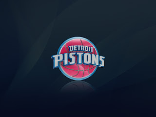 Detroit Pistons Logo Minimal HD Wallpaper
