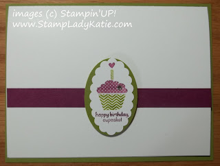 Simple card highlighting a small stamped image, Card #1 of Simple to WOW