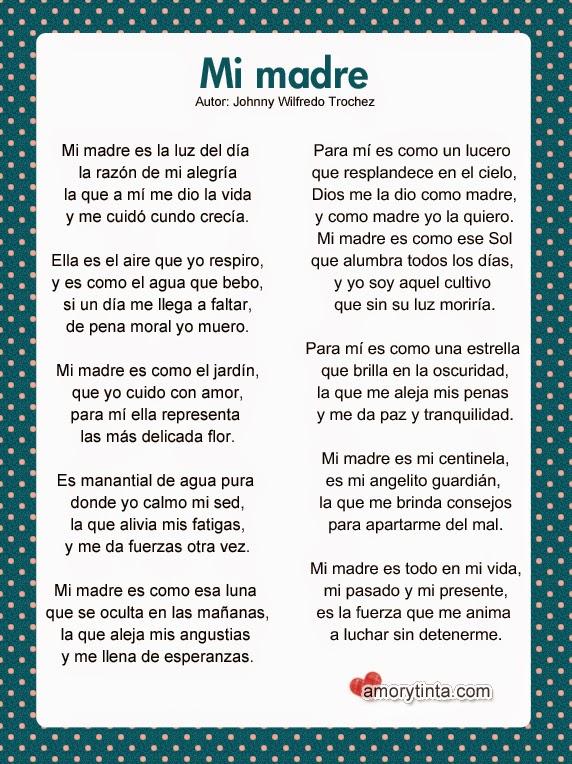 poema largo para el dia de la madre