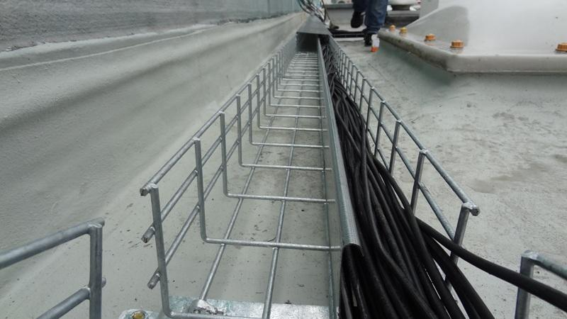Cable Tray Separator and DC Cables
