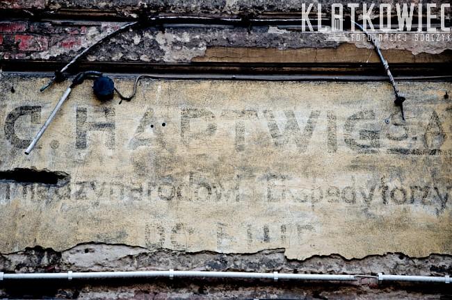 Bydgoszcz: napis na kamienicy