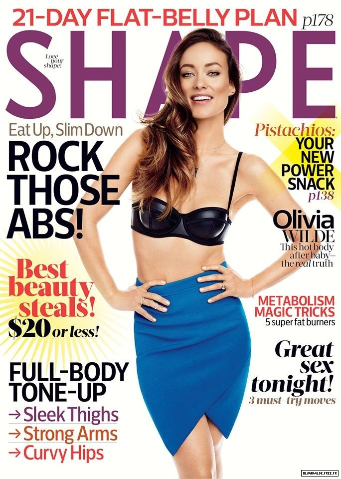 Actress, Model @ Olivia Wilde - Shape Magazine 2015