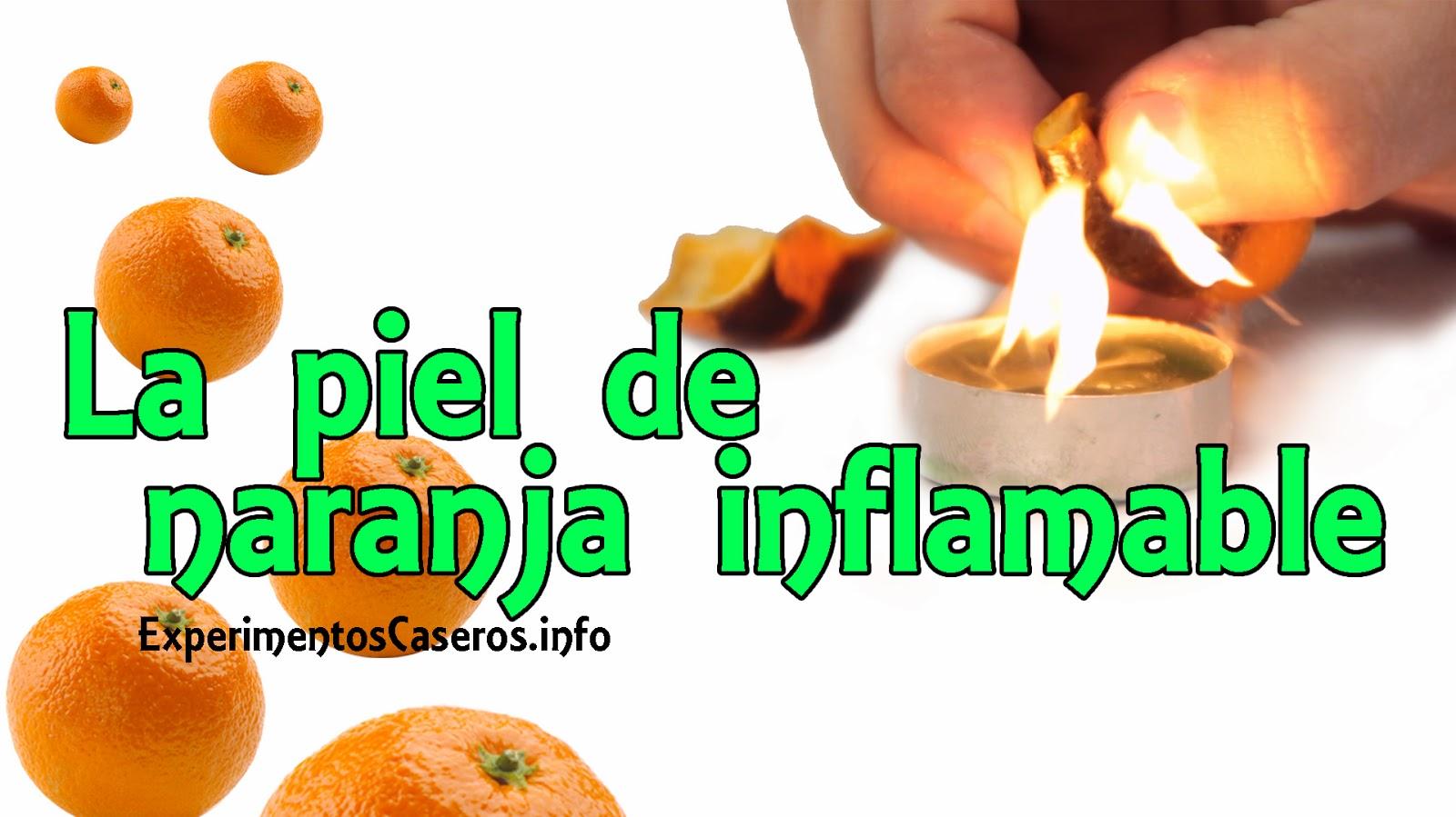 El experimento de la naranja inflamable, experimentos caseros, experimentos sencillos, experimento