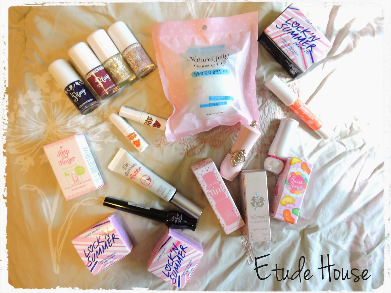 korean korea makeup haul etude house tony moly skin food skinfood aritaum holika holika, clio, olive young